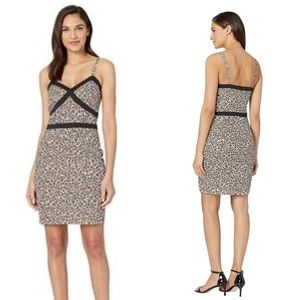 NWT BeBe Leopard Safari Print Cami Mini Dress